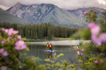 SUP in Banff National Park, photo by Will Lambert.